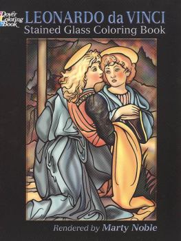 Leonardo da Vinci Stained Glass Coloring Bk