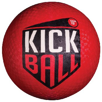 "Rubber Kickball 10"" - Red"
