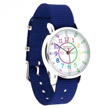 EasyRead Time Teacher Rainbow Past & To Watch - Navy Strap