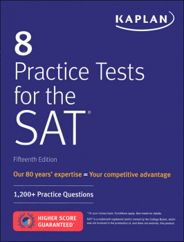 Kaplan 8 Practice Tests for the SAT 15th Edtn