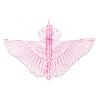 Hooded Unicorn Wings - Pink