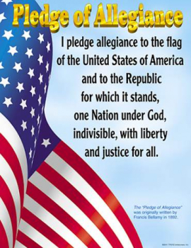 Pledge of Allegiance Learning Chart