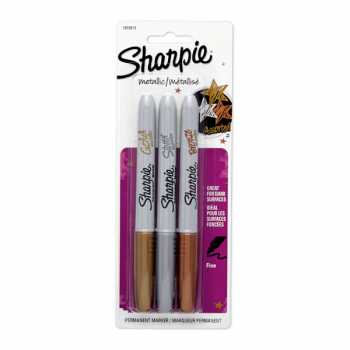 Sharpie Metallic Assorted Gold/Silver/Bronze (3 pack)