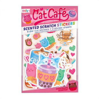Cat Café Scented Scratch Stickers (10 piece set)