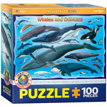Whales and Dolphins Puzzle - 100 pieces