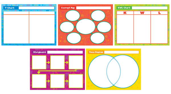 Great Graphic Organizers Write-on/Wipe-off