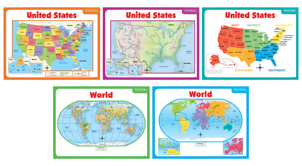 Teaching Maps (5-Map Set)