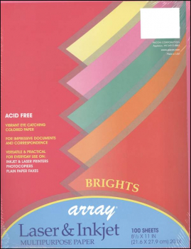 "Bright Acid-Free Paper - 8½"" x 11"" (100 Sheets)"