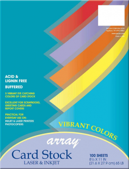 "Card Stock - Vibrant (100 Sheets - 8½"" x 11"" )"
