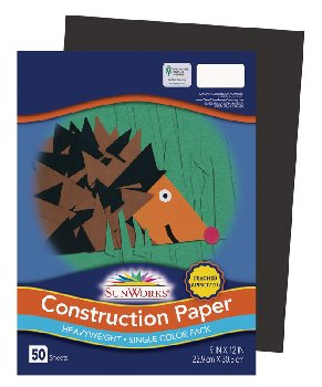 "SunWorks Construction Paper Black 9""x12"""