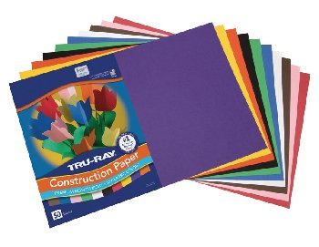 "Construction Paper Fade-Resistant 12"" x18"" Assorted Colors"