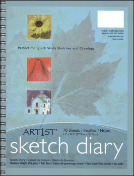 "Sketch Diary 11"" x 8.5"" 70 sheets"