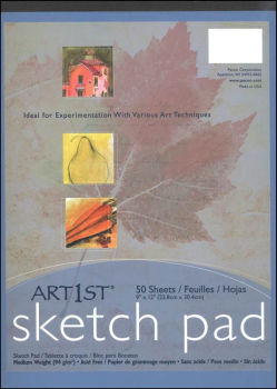 "Sketch Pad 9"" x 12"" 50 sheets"