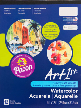 "Watercolor Pad 9"" x 12"" 12 sheets"