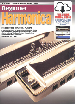 Progressive Beginner Harmonica w/ Online Video & Audio