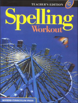 Spelling Workout 2001 Level G Teacher Edition