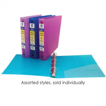 "3-Ring Poly Binder 1 1/2"" Capacity (Assorted Colors)"