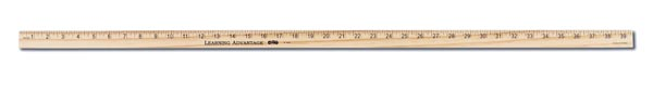 Meter Stick - Hardwood, 5 mm Thick with Plain Ends