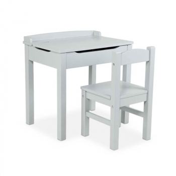Lift-Top Desk & Chair - Gray