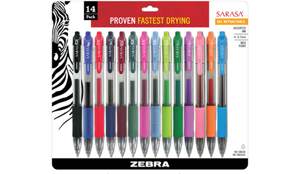 Sarasa Retractable Gel Pens - assorted colors (14 pack)