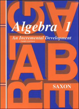Saxon Algebra 1 Student Text Only 3ED
