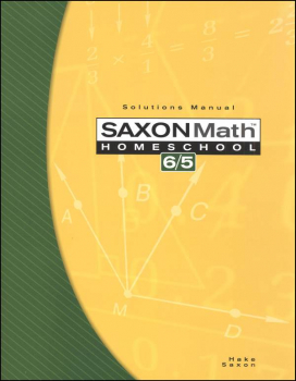 Math 6/5 Homeschool Solutions Manual (3rd Edition )