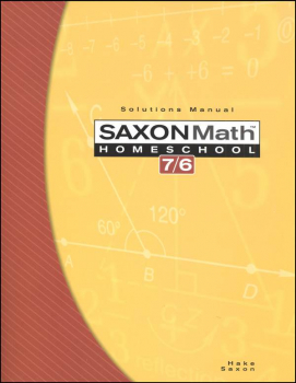 Math 7/6  Homeschool Solutions Manual (4th Edtion)
