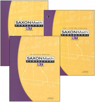 Saxon Math 8/7 3ED Homeschool KIT