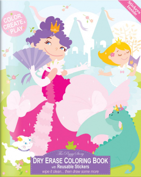 Dry Erase Coloring Book - Enchanted Princesses