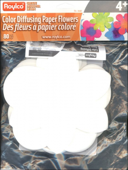 Color Diffusing Paper Flowers