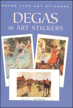 Degas 16 Art Stickers
