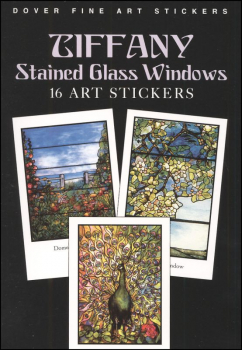Tiffany Stained Glass Windows (16 Art Stickers)
