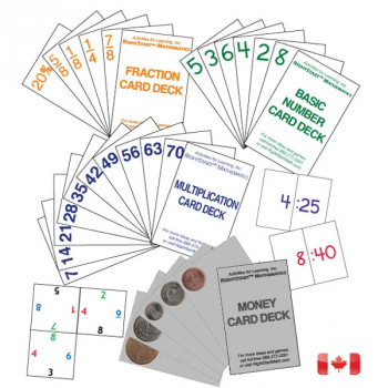 Cards Only (6 special decks needed for games) - Canadian
