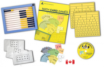 Math Card Games Kit with AL Abacus Standard & DVD - Canadian
