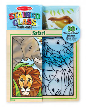 Stained Glass Made Easy - Safari (Peel & Press Sticker by Number)