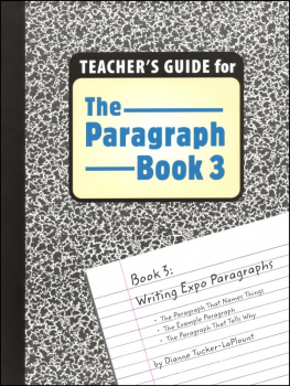 Paragraph Book 3 Teacher's Guide