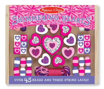 Shimmering Hearts Bead Set