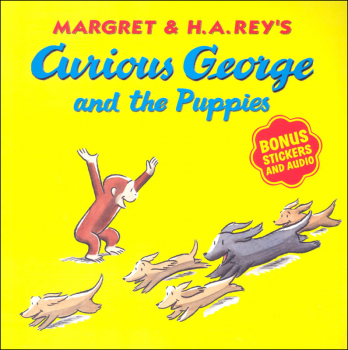 Curious George and the Puppies with Stickers & Audio