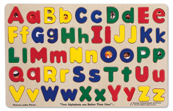 Upper and Lowercase Alphabet Puzzle