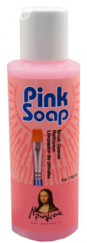 Pink Soap Brush Cleaner - 4 oz.