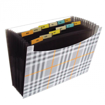 13-Pocket Expanding File - Fashion Plaid