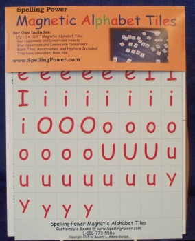 Spelling Power Magnetic Alphabet Tiles