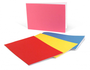 "Bright Blank Books Assorted Colors (5.5"" x 8.5"") Horizontal, Pack of 10"