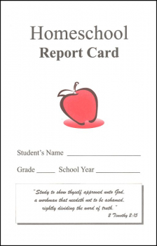 Homeschool Report Card w/ Bible Verse