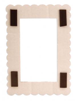 "Corrugated Tiny Frames (3.25"" x 4.25"") Pack of 6"