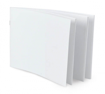 "White Blank Books (5.5"" x 8.5"") Horizontal - Pack of 10"
