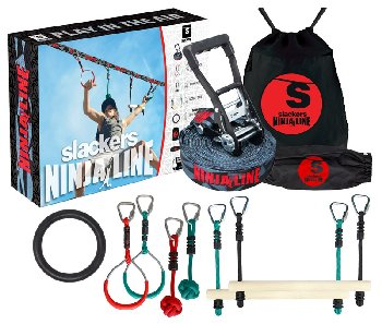 NinjaLine 36' Intro Kit with Hanging Obstacles (Slackers NinjaLines)