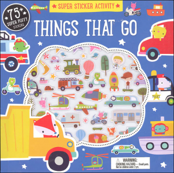 Things That Go Super Sticker Activity Book