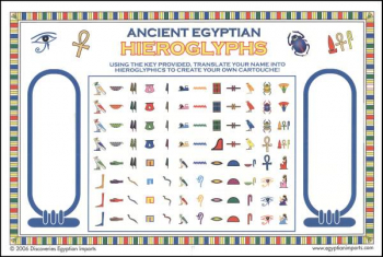 Ancient Egyptian Hieroglyph Stickers (Color)