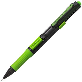Quick Click Pop Mechanical Pencil, 0.7mm-Black Barrel with Lime Green Trim